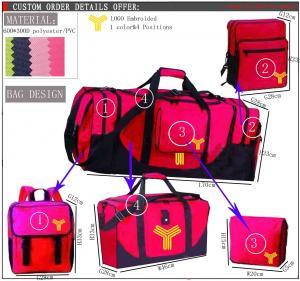China el bolso del viaje del equipaje del viaje del poliéster que viaja 600D de los sistemas plegables del bolso 3 fija on sale