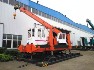 China 120 Ton Pile Driver Machine For Concrete Pile , Orange Mini Piling Machine on sale