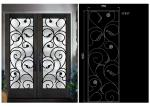 Low-e (emissivity) Natural lighting  elegant   Inlaid Door Glass For Building Hand Forged dignified