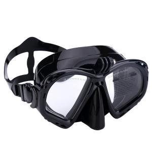 China Silicone Adult Snorkel Goggles , Underwater Diving Equipment UV Protection on sale