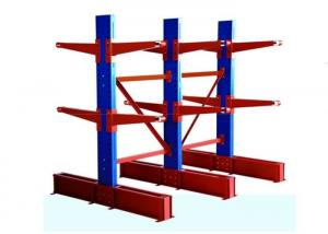 China 2-7 Layer Double Sided Cantilever Rack , Steel Material Warehouse Storage Pallet Racking on sale