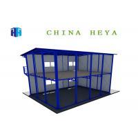 Labor Saving Double Storey Prefab Houses Modular Dormitory Construction Heat Insulation