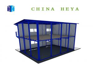 China Labor Saving Double Storey Prefab Houses Modular Dormitory Construction Heat Insulation on sale