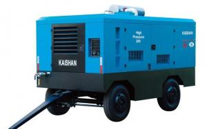 China Diesel Industrial Portable Air Compressor / Rock Drill Compressor Kaishan Lcgy on sale
