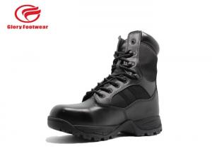 China Cordura Upper Leather Military Boots Steel Shank , Mens Trendy Combat Boots  Lace Up on sale