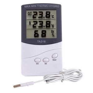 China High Quality Digital LCD Indoor/ Outdoor Thermometer Hygrometer Temperature Humidity Meter on sale