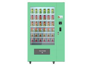 China Breakfast Salad Smart Telemetry Auto Vending Machine With Belt Conveyor Elevator Lift on sale