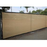 China Chain Link Black Fence Windscreen , Anti Wind Black Privacy Fence Mesh on sale