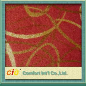 China Eco - Friendly Polyester Carpet Fabrics / Exhibition Carpet Cloth For Hotel / Car Upholstery on sale