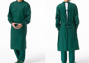 China Reusable Poly Cotton Surgical Gown Autoclavable Reinforced Scrub Suits on sale