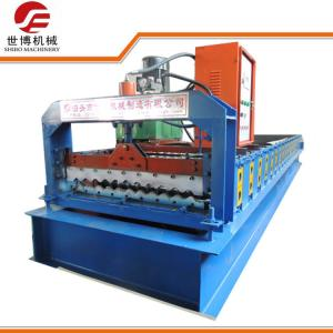 China Pre Painted Corrugated Iron Roller Machine 846 , Steel Frame Roll Forming Machine on sale