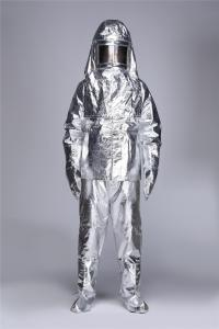 China Fire Retardant Heat Insulation Light Fire Entry Suits / Fire fighting Suit Aluminized on sale