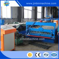 China Metal strip automatic roofing steel panel roll forming machine on sale