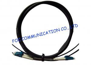 China FTTA Fiber Optic Patch Cable LC 2 Core With Armored Tube High Tensile Strength on sale