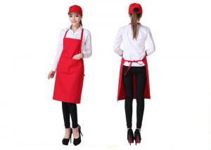 China Portable Chef Kitchen Aprons Pure Color Three - Dimensional Double Pocket Design on sale