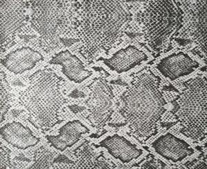 Scratch Resistance Snakeskin Vinyl Fabric Faux Leather