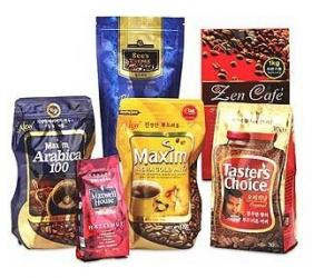China Custom Plastic Coffee Packaging Bags With Valve on sale