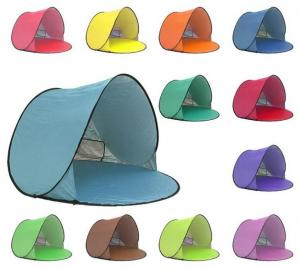 China 220 * 120cm Foldable Outdoor Camping Tent , Pop Up Beach Tent For Sun Shelter on sale