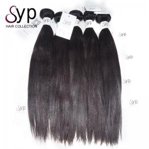 China Long Yaki Indian Remy Hair Extensions Remy Human Hair Weave No Smell on sale