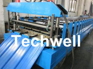 China Roof Wall Cladding Roll Forming Machine With High Grade 45# Forge Steel Roller wholesale