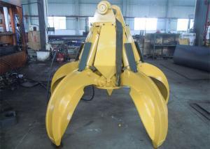 China Q345B Hardox450 Orange Peel Grab 2120 Mm Close Height 3 Pcs Fingers No Rotate on sale