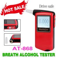 Professional Red Personal Alcohol Tester , Digital Alcohol Breathalyser Tester AT868