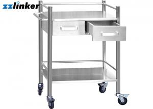 China Rear Dental Furniture Cabinets 2 Drawers With Wheels Dental Tool Filing Surgical on sale