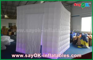 China Lighting 2.5m 1 Door Inflatable Cabin Photobooth Photo Booth Tent With Velcro Curtain on sale