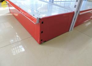 China Cream White Wire Gondola Shelving 1.8mm 2 Hooks Brackets Corrosion Resistance on sale