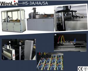 China PLC control Automatic card punching machine for PET material three dies method on sale