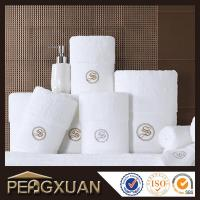 Hotel white hand towels 21s/2 embroidery and jacquard towels for sale with 100% cotton PXFT1