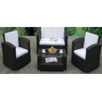 China 4pcs steel rattan sofa set on sale