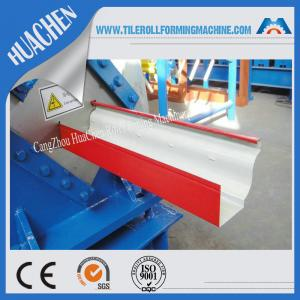 China Hydraulic gutter roll forming machine , ISO Steel rollform equipment Customization color on sale