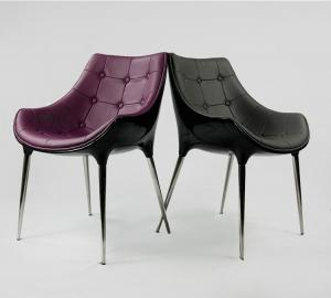 China PU Leather Fiberglass Arm Chair With Replica Furniture For Living Room on sale
