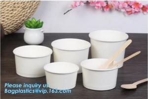 China Disposable paper hot soup cup with paper flat lid,microwaveable deli container disposable plastic hot soup cups bagease on sale