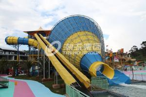 China Tornado fiberglass water pool slides for adult , swimming pool slides on sale