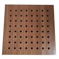 Fireproof Material Sound Absorbing Music Room Wooden Perforated Acoustic Wall Panel