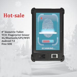 China 8 inch 4G NFC Android Fingerprint Reader Barcode Scanner with Display Handheld Terminal Android on sale