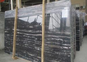 China Sliver silver Dragon Black with White Vein polished black and white stone marble slabs tiles on sale