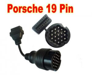 China PORSCHE 19 PIN OBD to ODB2 EOBD 16 PIN CAR FAULT CODE DIAGNOSTIC ADAPTER CABLE on sale