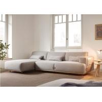 Eiderdown Bag Inside Fabric Corner Sofa , Customize Bosc Duffle Fabric Lounger Sofa