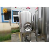 500L Stainless Steel Conical Beer Fermenter , Small Conical Fermenter With Dimple Plate Jacket