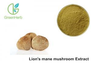 China Anti Oxidant Lion'S Mane Mushroom Extract 30% Polysaccharides Yellow Brown Powder on sale