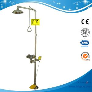 Quality SH712BSF-Foot pedal SUS304 Safety shower & eyewash station,SS304 emergency shower Eyewash for sale