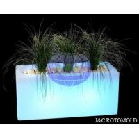 Double Walls Plastic LED Flower Pot Molds Made By Aluminum Rotational Molds