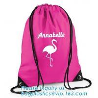 Polyester fabric drawstring bag /advertising pull rope backpack cloth bag /nylon shoulder pocket customization BAGEASE