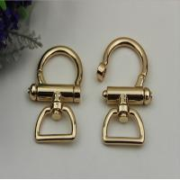Fashion high quality zinc alloy light gold 25 mm metal spring snap hook for lanyard
