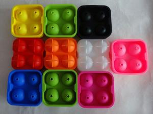 China food grade silicone ice spheres mold , flexible silicone ice ball molds on sale
