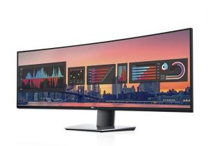 China Dual QHD Dell UltraSharp Curved Computer Monitor 49 Inch For Professionals on sale