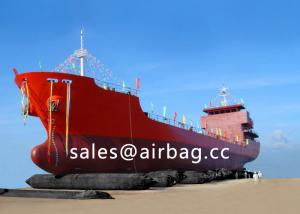 China High strength Black ship launching airbag / lifting rubber marine airbags on sale